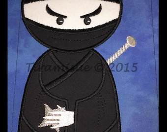 Nearly Ninja Applique Embroidery designs 8x12in (200x300mm)