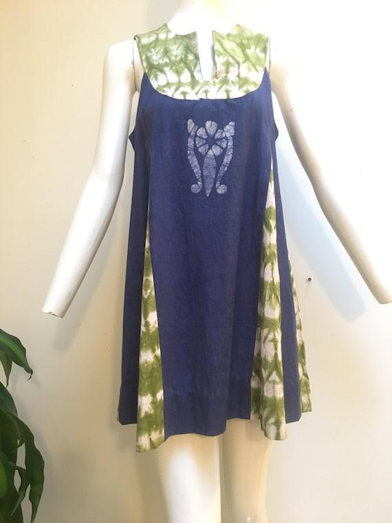 1971 Summer Babydoll Mini Dress with Pockets, avai
