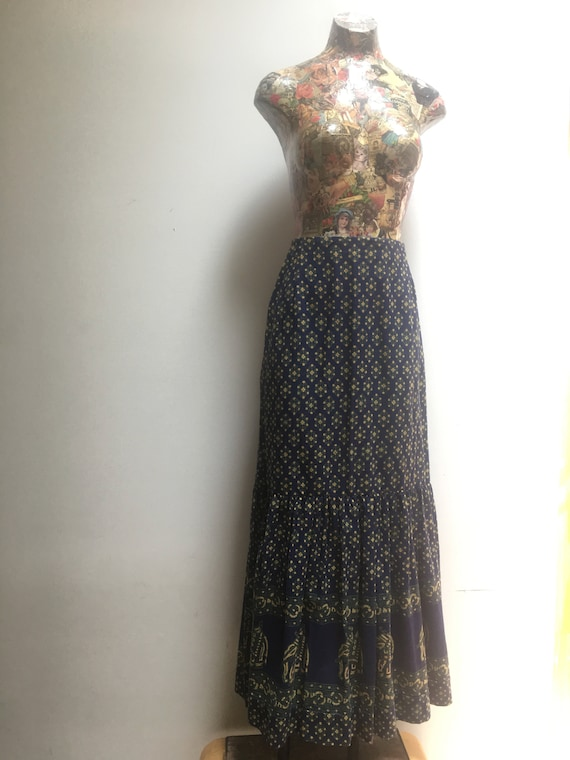 India Imports Two Piece Vintage Set // 1970s Dead… - image 6