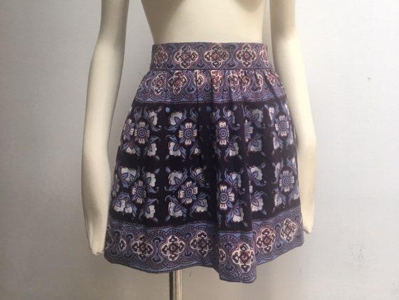 India Imports of Rhode Island Blockprint Miniskirt