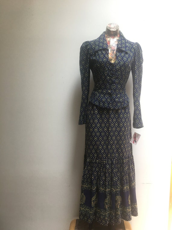 India Imports Two Piece Vintage Set // 1970s Dead… - image 1