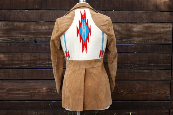 1970s Gorgeous Chimayo Insets Suede Leather Jacket