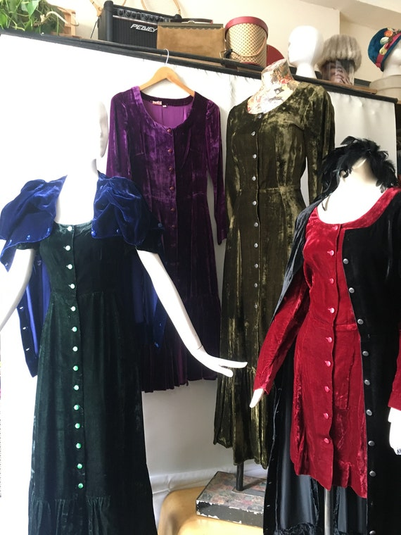 5 Velvet Dresses size Extra Small by India Imports