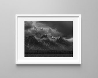Grand Tetons Print. Grand Tetons Photo. Photography. Travel Print. Tetons. Wyoming.