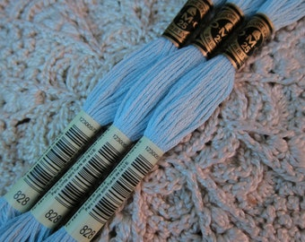 12 skein Larger Pkgs /& Full 8m Skeins Boxes Available in Single Skeins DMC Cotton Embroidery Floss Pale Delft Blue #800