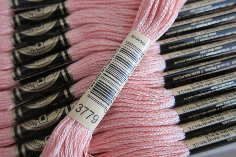 8m Skeins Ultra Very Light Terra Cotta #3779 12-skein Boxes Available in Single Skeins and in Full DMC Cotton Embroidery Floss