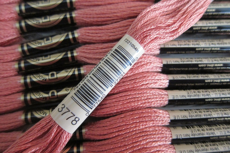 8m  8.7 yd Skeins 12 skein Larger Pkgs /& Full Available in Single Skeins DMC Cotton Embroidery Floss Light Terra Cotta #3778 Boxes