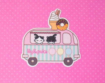 lily&puka's candy truck - iron on patch