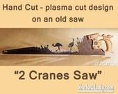 Metal Art Sandhill Cranes...