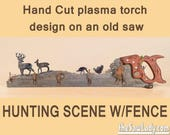 Hunting Scene - old saw h...