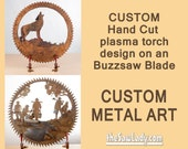 CUSTOM design Buzzsaw Blade just for you! Metal Art | Wall Decor | Garden Art | Recycled Art | Repurposed  - Made to Order