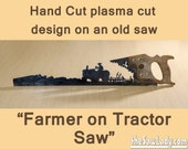 Metal Art Farmer on a Tra...