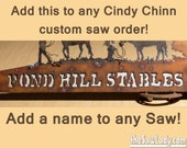 NAME ADD ON Only to Custom Hand (plasma) cut hand saw order 2 Layer Design
