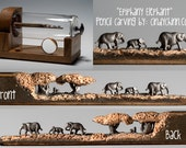 Elephant Walk Pencil Carving Made to Order: -  Incredible Detail  Micro Pencil Lead Carving exective gift for nature lovers