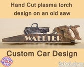 CUSTOM CAR (any car) design Hand (plasma) cut hand saw Metal Art   Wall Decor   Recycled Art   Repurposed  - Made to Order for Car Lovers!
