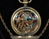 Attack on the Nautilus custom pendent necklace - steampunk, sculpted
