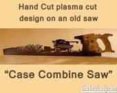 Metal Art Case Combine cutting corn design Hand (plasma) cut hand saw   Wall Decor   Garden Art   Recycled Art   Repurposed  - Made to Order
