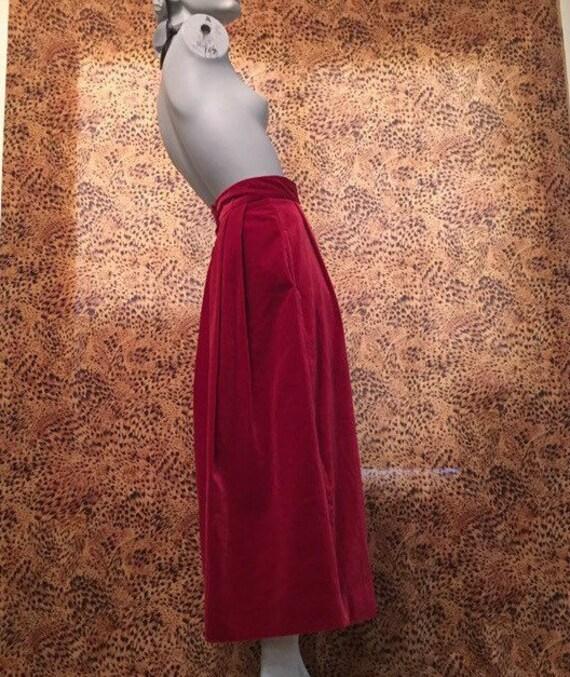 Laura Ashley Velvet Skirt With Pockets - image 4