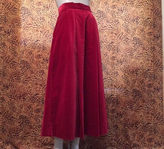 Laura Ashley Velvet Skirt With Pockets - image 5