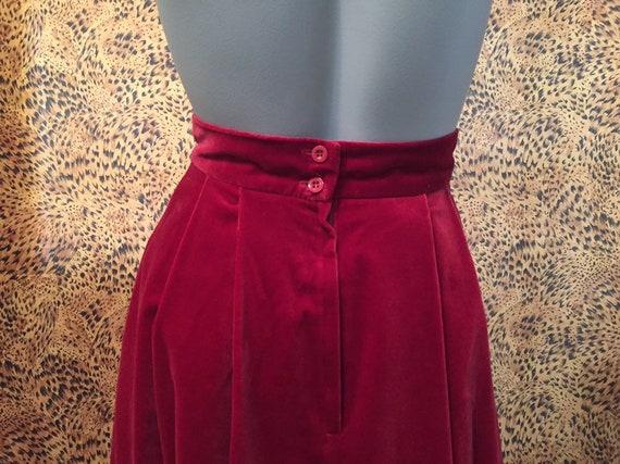 Laura Ashley Velvet Skirt With Pockets - image 7