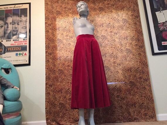 Laura Ashley Velvet Skirt With Pockets