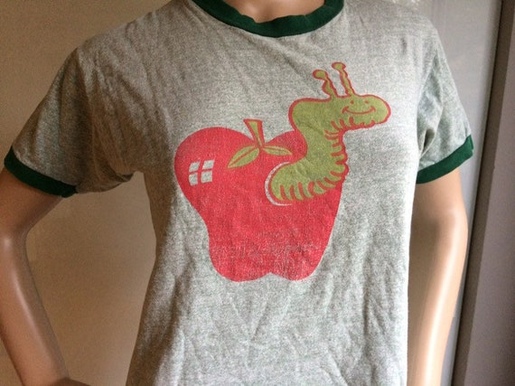 Apple With Worm 70s T-Shirt