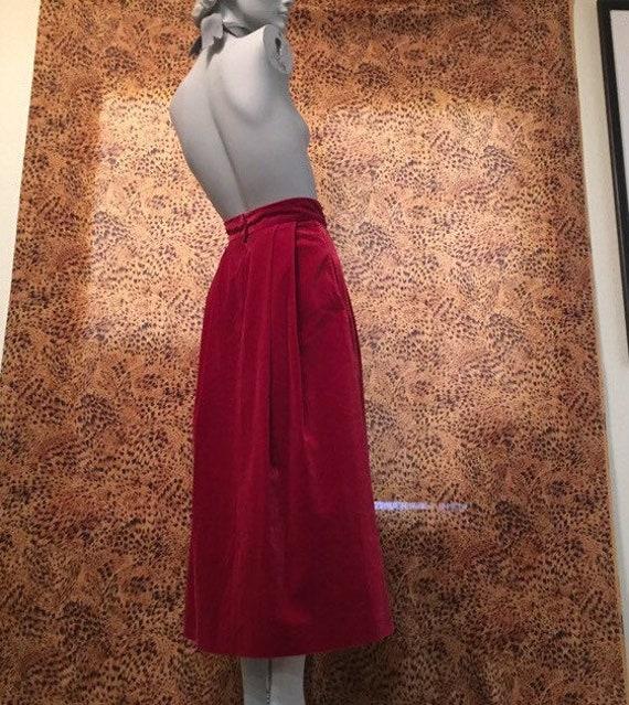 Laura Ashley Velvet Skirt With Pockets - image 2