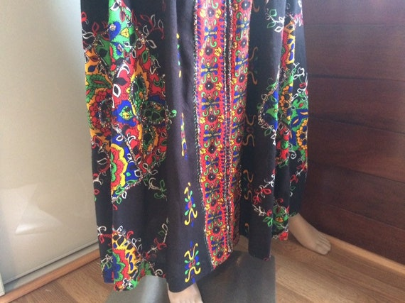 Rainbow Glittered Maxi Dress in Black, Red, Yello… - image 3