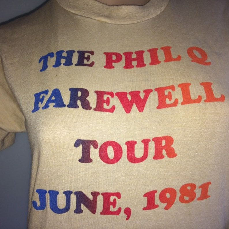 Phil Q Farewell Tour June 1981 A and M Records