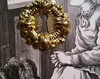 Ornate Brass Antique Metal Door Escutcheon Key Hole Keyhole Skeleton Key