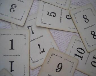 Ornate Antique Number Cards