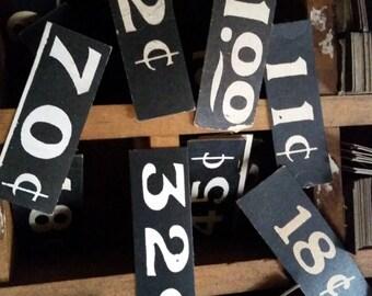 Dozen Antique General Store Price Tags