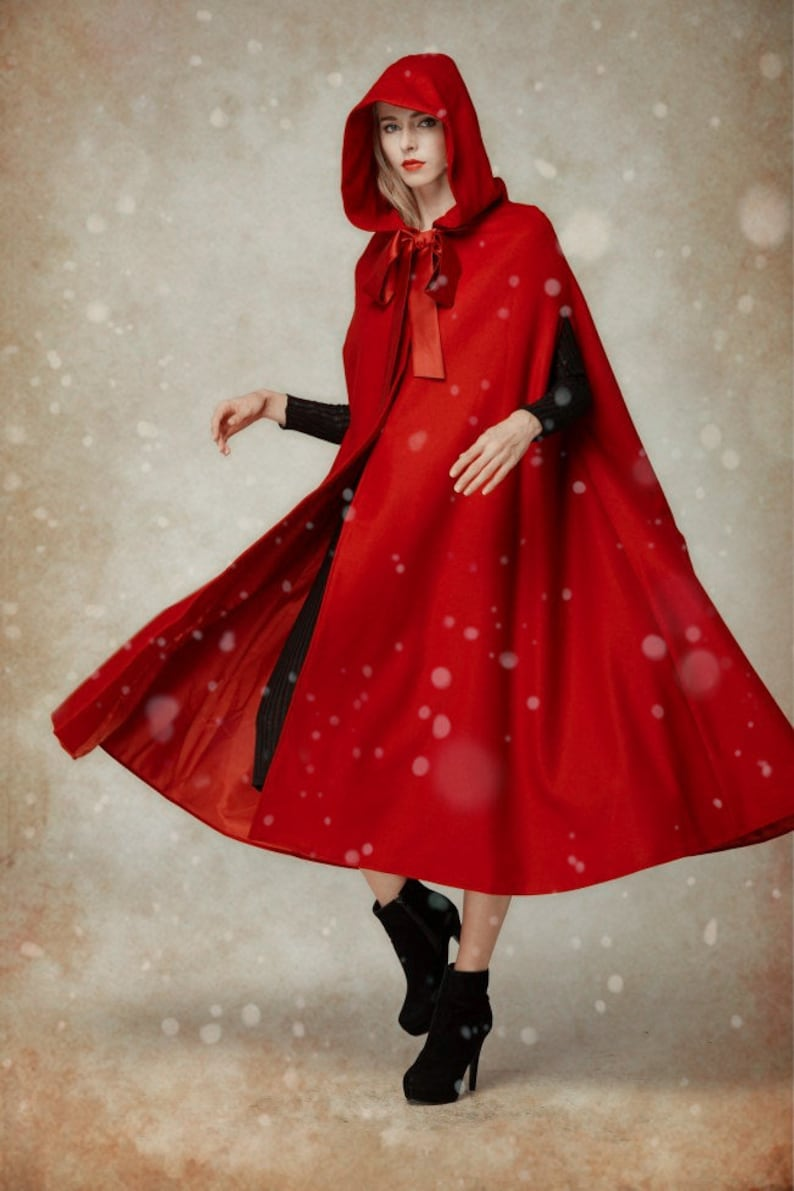 a192b6ebcc Wool Coat In Red Hooded Wool Coat Hooded Jacket Red