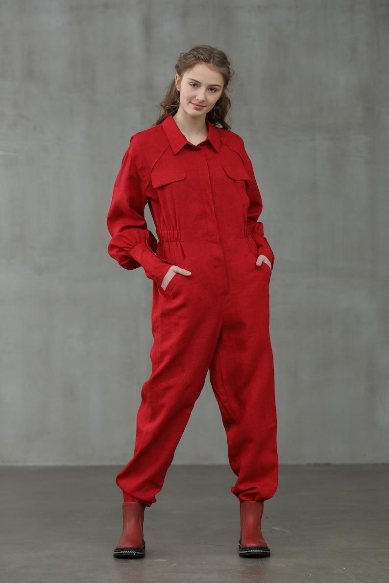 70s Jumpsuit | Disco Jumpsuits, Sequin Rompers Linen worker jumpsuit Linen romper Linen overall Wide leg jumpsuit | Linennaive $99.00 AT vintagedancer.com
