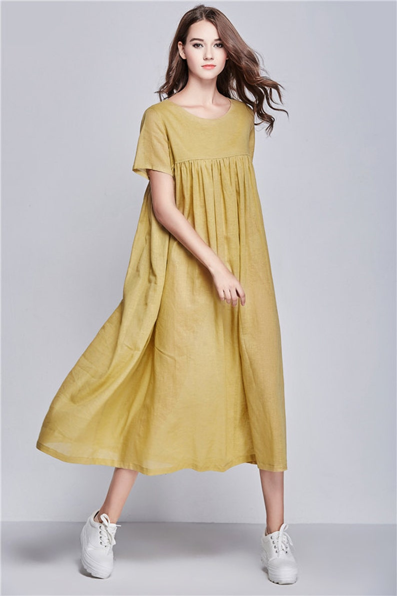 80e5653400d Maxi dress linen dress loose fitting linen dress Summer