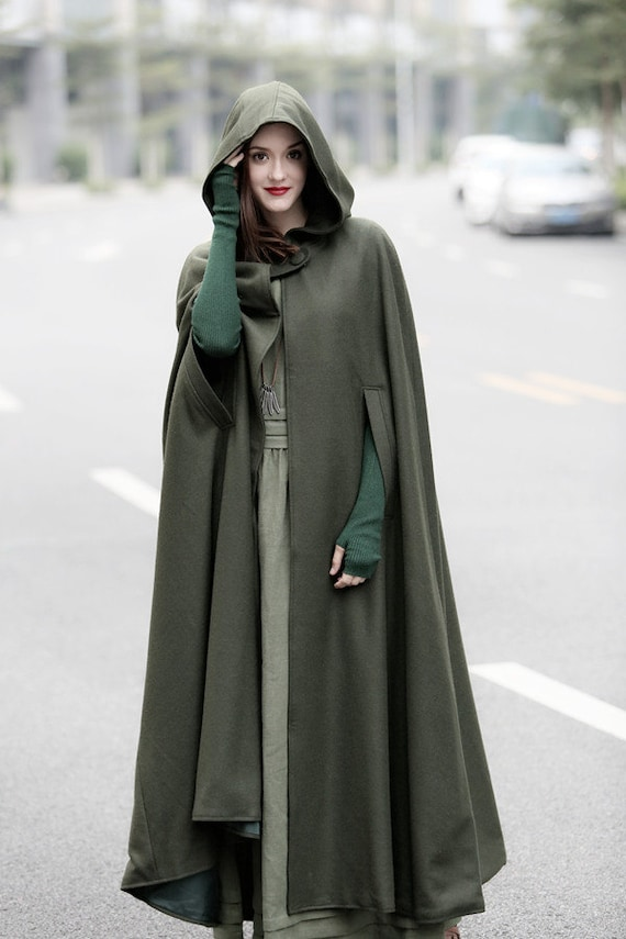 maxi hooded wool coat cloak 100 cashmere maxi cashmere etsy