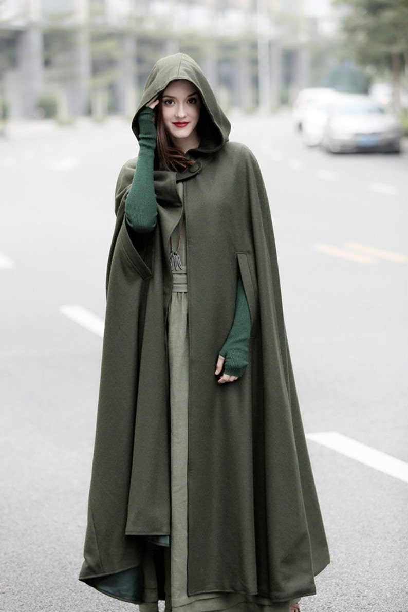 Maxi Hooded Wool Coat Cloak 100% Cashmere Maxi Cashmere image 0