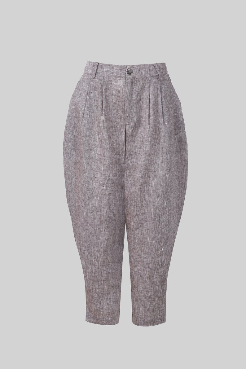 1940s Swing Pants & Sailor Trousers- Wide Leg, High Waist     linen pants with pockets wide leg linen pants linen harem pants drop crotch carrot fit linen pants  tapered linen pants | Linennaive $89.00 AT vintagedancer.com