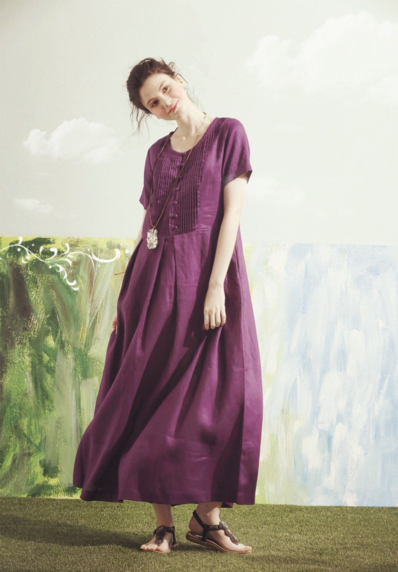 ef352ab91ab Purple maxi dress purple bridesmaid dress maxi linen dress