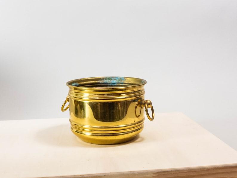 Vintage brass planter brass flower pot