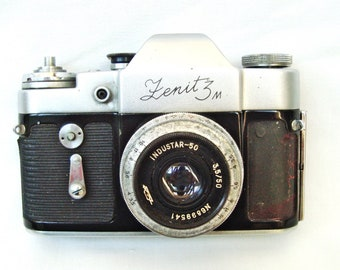 Vintage camera ZENIT 3M with case Made in Russia