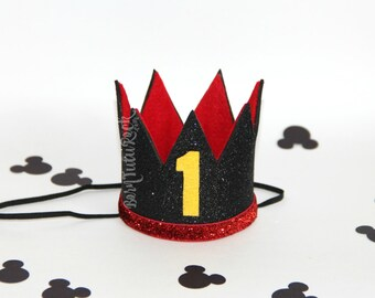 Mickey 1st Birthday Crown // Mickey Mouse Crown // Mickey Crown // by Born TuTu Rock