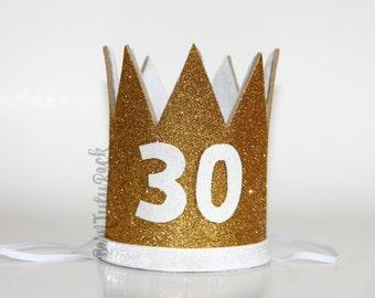 30th Birthday Crown // CUSTOM 30th Birthday Crown // Dirty Thirty //  by Born TuTu Rock