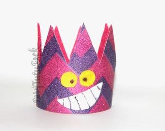 Cheshire Crown // Cheshire Cat Crown // Alice in Wonderland Crown // by Born TuTu Rock