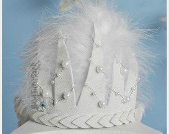 White Queen Crown // Snow Queen Crown // by Born Tutu Rock