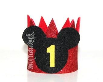 Mickey Baby Crown // 1st Birthday Crown // Mickey Mouse Crown // Mickey Crown // by Born TuTu Rock