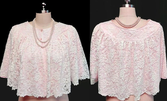 Vintage Styled by Nanette Lace & Nylon Bed Jacket