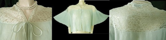 Glamorous Vintage Barbizon Crystal Pleated Ruffled