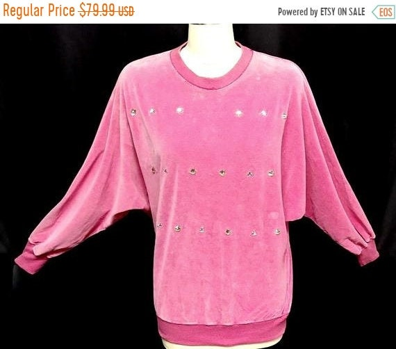 CLEARANCE SALE Vintage Chaus Hot Pink Rhinestone S