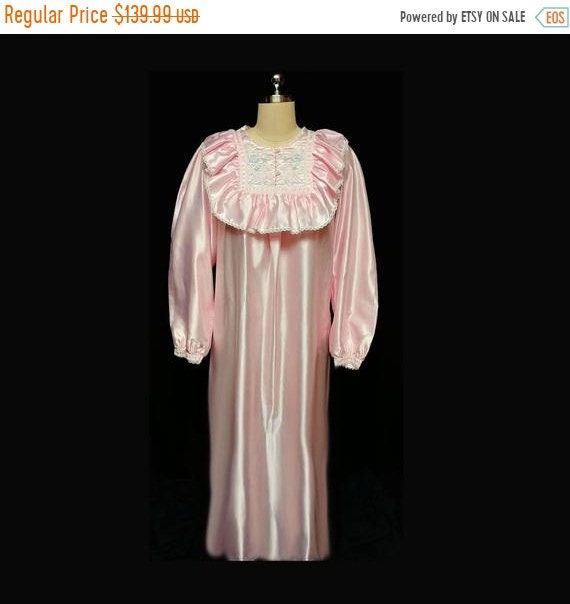CLEARANCE SALE Vintage Victorian Look Pink Satin F